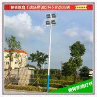 篮球场专用锥形灯杆 江门篮球场灯杆灯光配套设施 球场灯杆高度