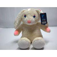 发光兔子毛绒玩具生产厂家发光毛绒玩具公仔