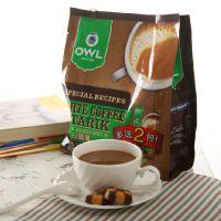 新加坡进口OWL猫头鹰三合一速溶咖啡榛果、原味600克
