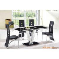 高档家居用品餐厅家具、简约时尚餐台餐椅、不锈钢餐台现货促销。