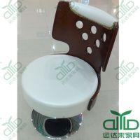 甜品店餐桌椅 时尚转椅 靠背圆孔升降椅 咖啡厅简约喷漆椅 可定做