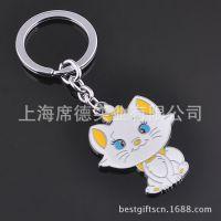淘宝热卖小猫金属挂件 钥匙扣定制l批发 创意彩色金属钥匙扣
