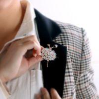 高端胸针品牌 胸针花披肩 奥地利水晶钻 跳舞的女孩立体花朵 4984