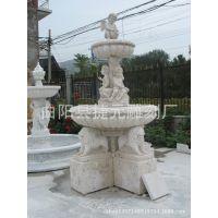 曲阳石雕厂家直销欧式大理石石雕喷泉 黄金麻花岗岩石雕景观喷泉