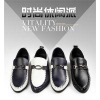 夏款韩版英伦男鞋子休闲皮鞋英伦潮流男鞋内增高商务正装时尚皮