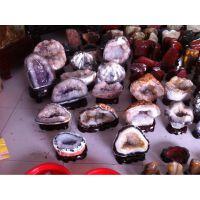 《批发》天然玛瑙白紫水晶洞聚宝盆 招财防辐射奇石摆件 水晶洞