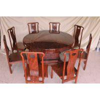 昆山天龙源厂家直销红木家具圆桌九件套