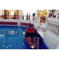 7米贡多拉手划船 威尼斯贡多拉观光船 澳门酒店装饰船 精品欧式木船