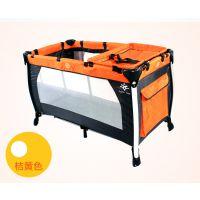 现货供应出口欧洲铝合金多功能婴儿床 游戏床 双层可折叠宝宝床