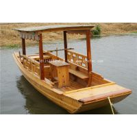 楚风木船出售观光景点木船 手划船 水上游艺设施 旅游船制造