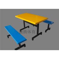 大量批发玻璃钢工厂学校餐厅饭堂餐桌椅 4人位条凳餐桌 康腾体育厂价