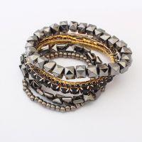 欧美饰品批发 欧美异域风情立体小方块手链 时尚热卖SL258