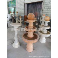 加工销售各种石雕喷泉大型风水球  晚霞红喷泉特价销售