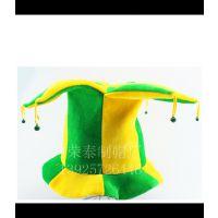 帽子工厂专业定做小丑帽 马戏团小丑专用帽 四角铃铛小丑表演帽子