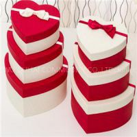 Special Paper Coated Heart Shaped Gift Paper Box