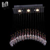 简约现代K9水晶钢丝线吊灯楼梯客厅酒店大堂餐厅灯具灯饰80013