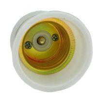 灯头批发 瓷白胶木螺口灯头 E27灯口 胶木阻燃灯头 026型