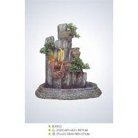 B3012招财风水假山流水水池盆景树脂工艺品假山流水喷泉