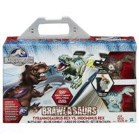 孩之宝侏罗纪公园霸王龙恐龙对战擂台套装模型玩具儿童礼物B1843