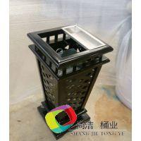 重庆北岸区小区钢制垃圾桶热销,尚洁桶业厂家供应