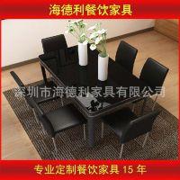 【厂家供应】美式风格餐桌实木餐桌椅  餐桌椅批发 现货特价