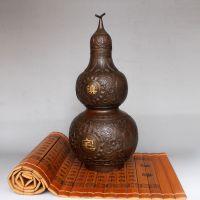 纯铜开光铜葫芦摆件仿古家居办公室装饰工艺品葫芦礼品摆设