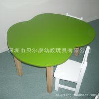 苹果型木桌 彩色水果造型儿童桌 不规则卡通桌 卡通造型桌