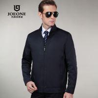 2015新款九牧王男装夹克 春装时尚商务立领薄款茄克品牌外套正品