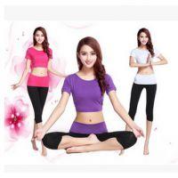 2015新款 春夏秋季背心瑜伽服套装正品健身房运动服 厂家批发