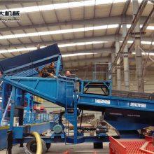 采金船 科大小型淘金设备价格 选矿设备 移动淘金车