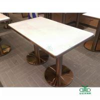 深圳石材餐桌定制 中式茶餐厅西餐厅快餐厅 大理石餐桌椅定制 运达来