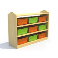 供应万源幼儿园书架书包柜实木材质