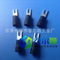 厂家供应电镀亚锡标准质量叉型预绝缘接线端头 SV3.5-4冷压端子
