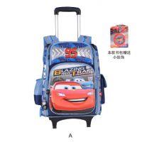 14新款正品迪士尼小学生拉杆书包米奇双肩书包RB0010汽车总动员