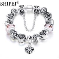 2015新款潘朵拉镀银琉璃珠精品手链速卖通ebay外贸爆款批发ABA051