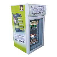 带灯箱立式商用冰淇淋冷冻展示柜速冻迷你小型冰箱SC-42F可移动货架