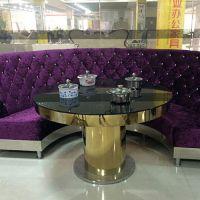 电磁炉火锅餐桌热卖 欧式餐厅无烟餐台 4人位大理石火锅桌定做