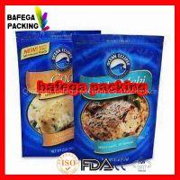 gravure printing laminated food grade ziplock stand up frozen food plastic bag, zipper plastic bag