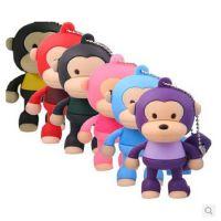 新款批发 礼品u盘 卡通小猴子u盘8g 创意迷你可爱大嘴猴 五年质保