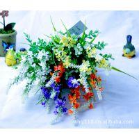 清库 家居装饰仿真植物-5叉带花薰衣草FX1126 外贸仿真花塑料花