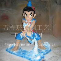 葫芦兄弟 金刚葫芦娃 玻璃钢葫芦娃雕塑 经典卡通动漫雕塑