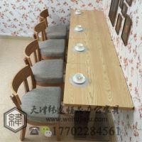 天津餐厅实木桌椅定做