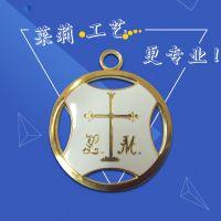 供应锌合金珐琅吊饰徽章定做,莱莉五金,品质保障