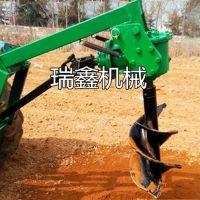 地钻打坑挖孔机 拖拉机带动植树钻孔机 拖拉机带动挖坑机