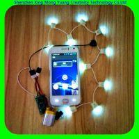 供应可以通过手机蓝牙是LED灯闪灯的蓝牙控制发光鞋灯板