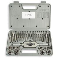 胜达工具 31件M3-M12公制丝锥板牙套装 合金工具钢攻丝组合铰