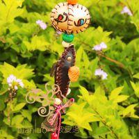 云南民族风挂件彩绘风铃幸运东巴木质家居饰品