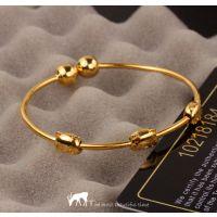 欧币镀金饰品 欧币经典熊猫手镯纯黄铜镀24K黄金镯子厂家直批