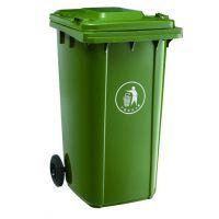 唐山昌顺240L塑料带轮挂车型垃圾桶质量有保障值得信赖