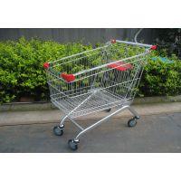 供应德嘉超市购物车手推车型号50-150升超市带凳购物车